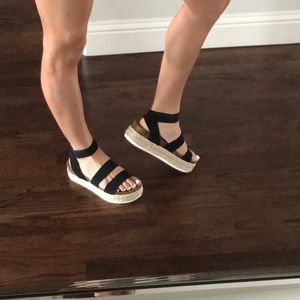 27cae83d040 Steve Madden Shoes - STEVE MADDEN KIMMIE BLACK SANDALS
